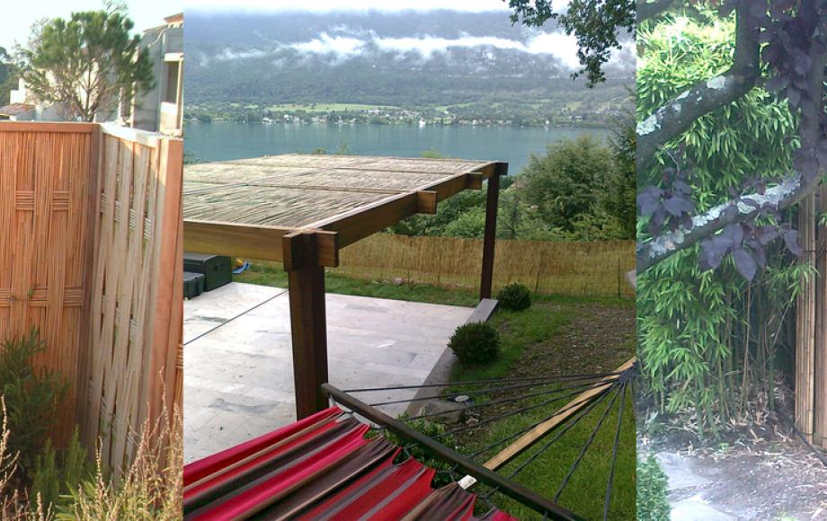 Pergola bambou medhan - Pergola bambou jardin ...