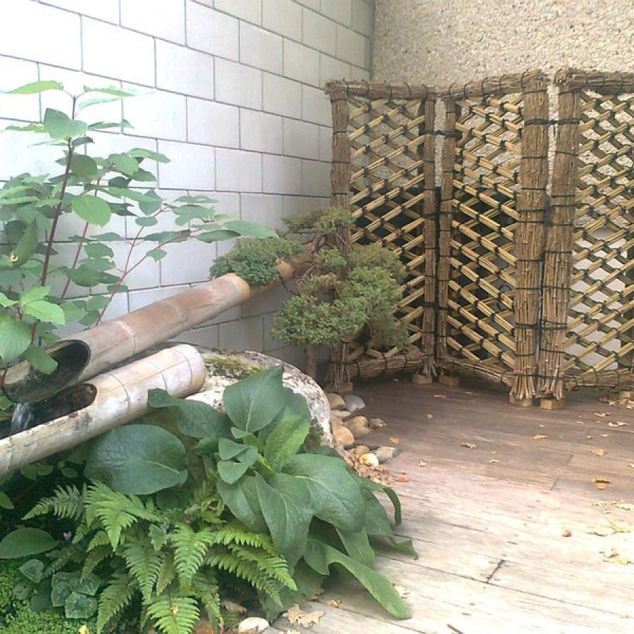 Sode Gaki, barrière traditionelle japonaise en bambou
