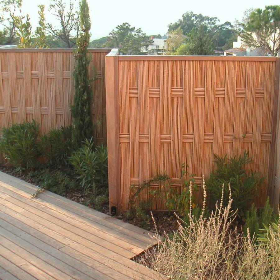 Panneau de clôture de jardin en bambou