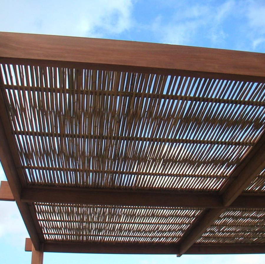 Couverture de pergola en bambou