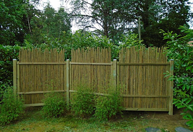 Panneau bambou clôture jardin brise vue palissade barrière