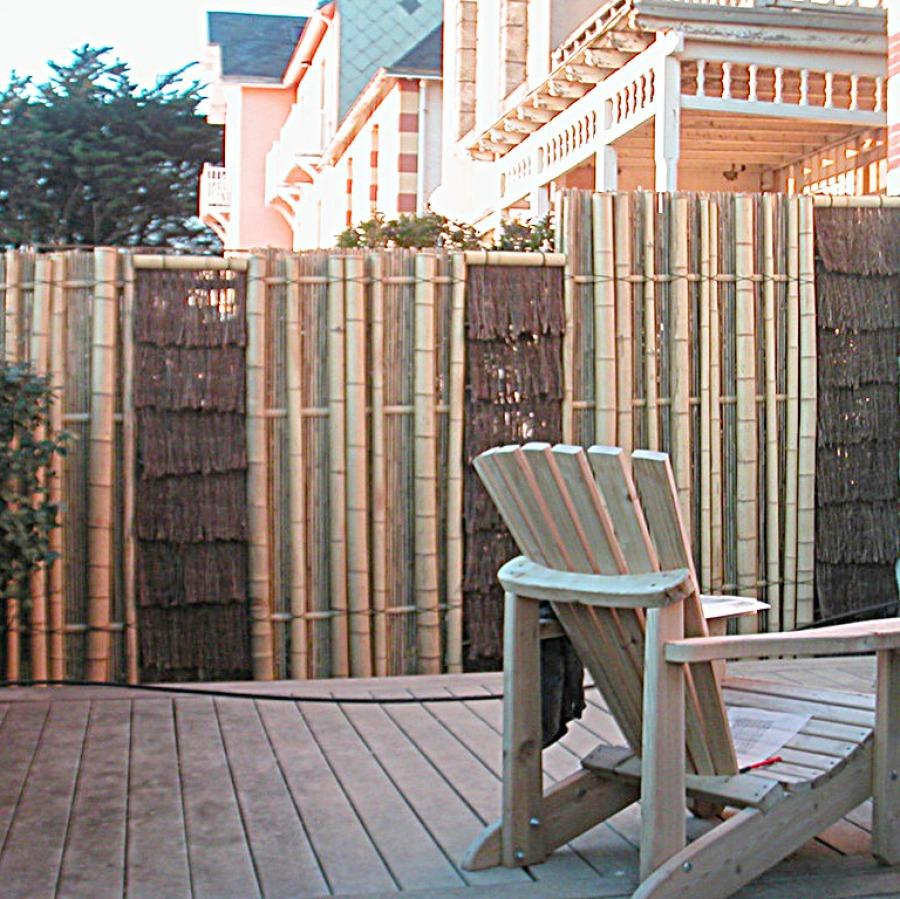 Original gaki, Nanzenji gaki, barrière traditionnelle bambou jardin japonais, zen, clôture, palissade, séparation