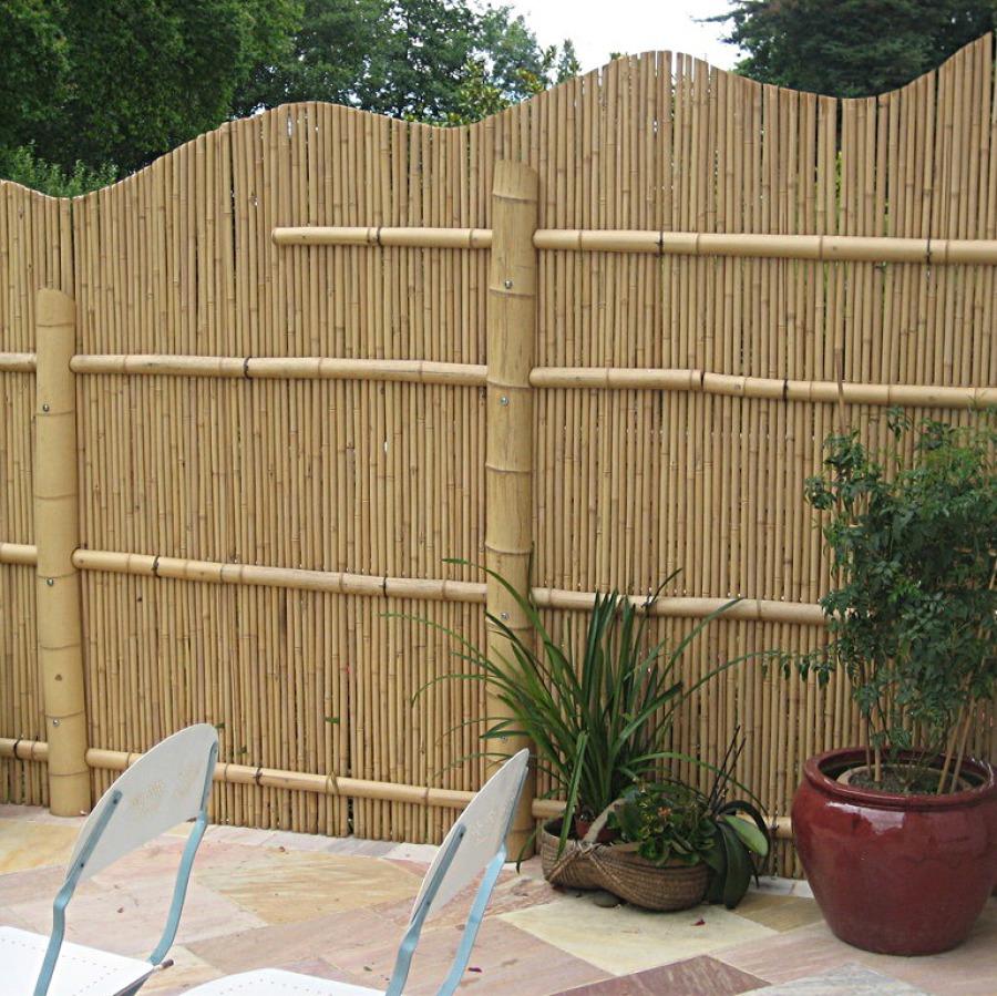 Original gaki, barrière traditionnelle bambou jardin japonais, zen, clôture, palissade, séparation