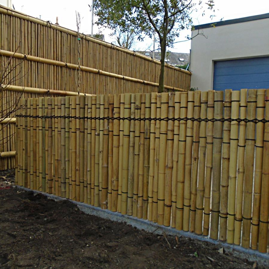 Tokusa gaki, Kenninji gaki, barrière traditionnelle bambou jardin japonais, zen, clôture, palissade, séparation