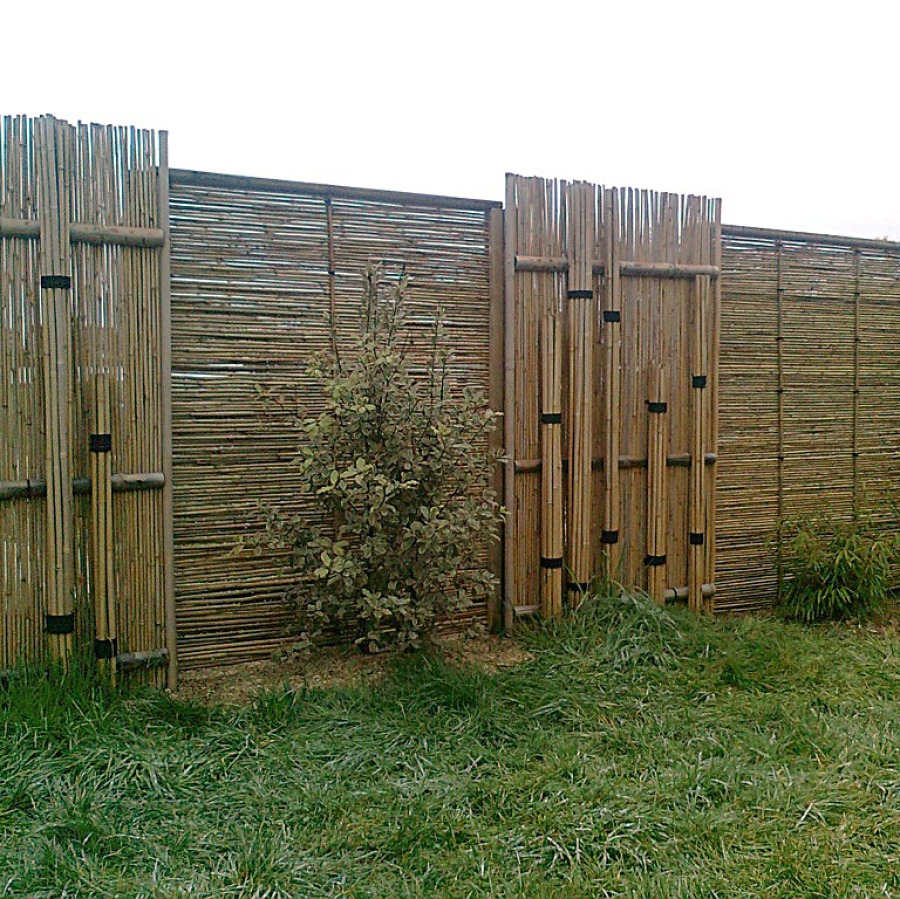 Misu gaki, Teppo gaki, barrière traditionnelle bambou jardin japonais, zen, clôture, palissade, séparation