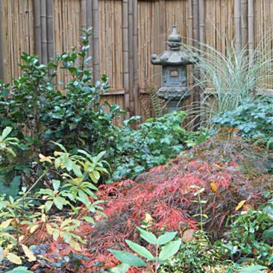 Original gaki, panneau Jeoni, barrière traditionnelle bambou jardin japonais, zen, clôture, palissade, séparation