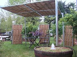 pergola,bambou,bois,acier,jardin,ombre,fraicheur,bioclimatique,gazebo,tonnelle