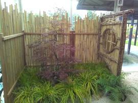 panneau,bambou,jardin,palissade,cloture,barrière,japonais,maru