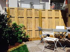 panneau,bambou,jardin,palissade,cloture,barrière,japonais,jeoni